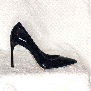 NEW! ZARA WOMAN Black Patent Stiletto heels